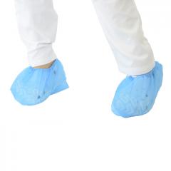 Cobre sapatos PP, anti derrapante, azul